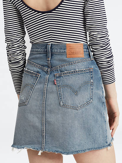 Deconstructed Iconic Boyfriend Skirt Blue | Levi's® NO