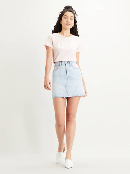 High-Waisted Deconstructed Skirt