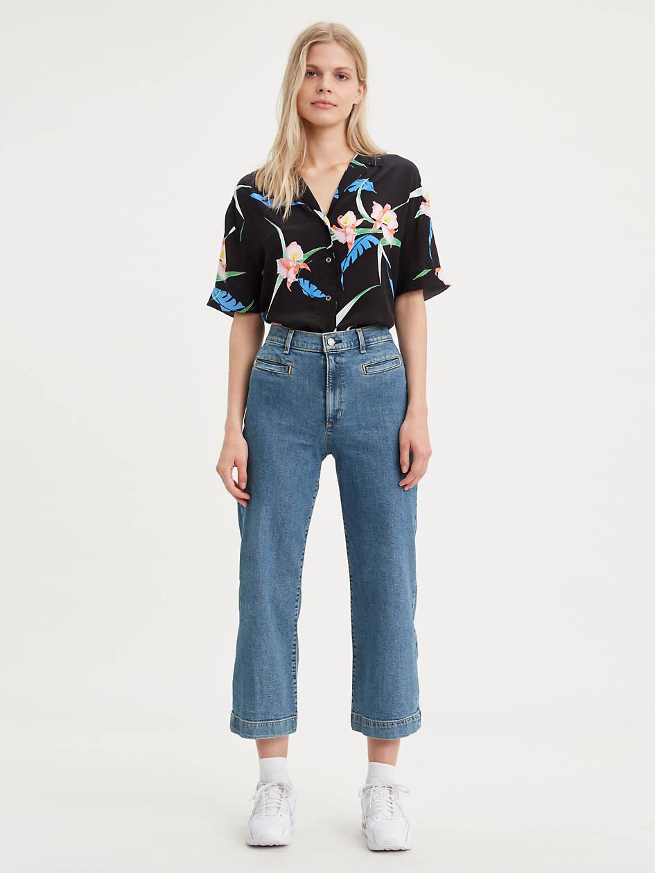 Ribcage Wide Leg Cropped Women's Jeans - Light Wash | Levi's® US