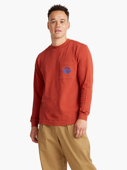 Dockers® Men's Retro Boxy Mock Neck Tee Shirt