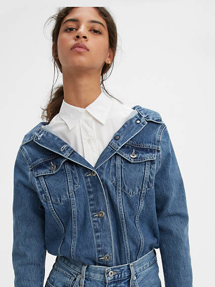 Off the Shoulder Trucker Jacket
