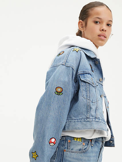 Levi's® x Super Mario Crop Dad Trucker