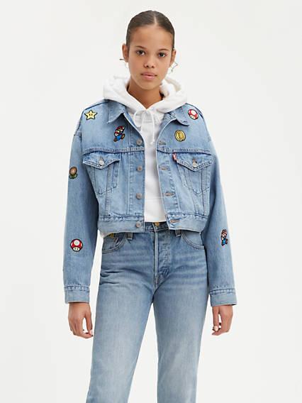 Levi's® x Super Mario Cropped Dad Trucker Jacket