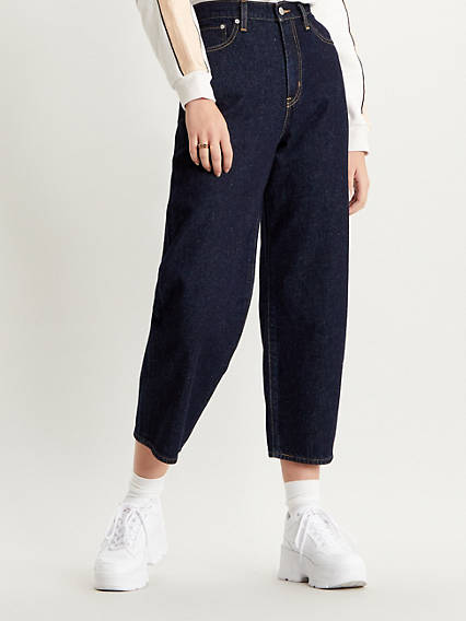 Balloon Leg Cottonized Hemp Women's Jeans