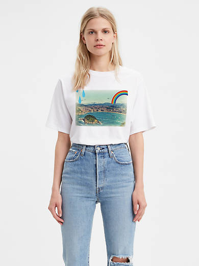 Graphic Boxy Tee Shirt