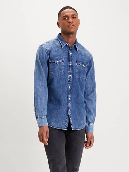 Barstow Western Standard Shirt Blue | Levi's® SE