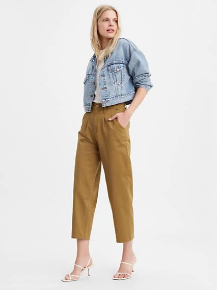 Pantalon jambe ballon pour femme