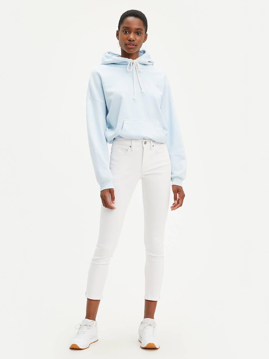 311 Shaping Zipper Skinny Women's Jeans - White   Levi's® US