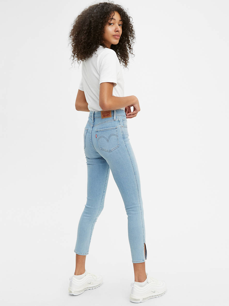 Button Front 721 High Rise Ankle Skinny Women's Jeans - Light Wash   Levi's® US