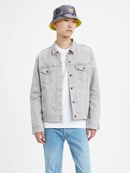 Reversible Flannel Lined Trucker Jacket