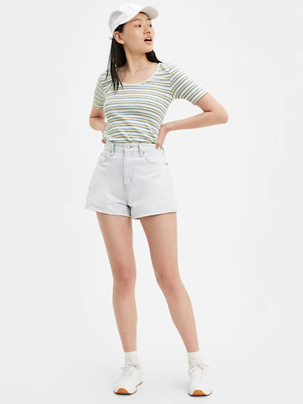 Wide Leg Mid Length Shorts