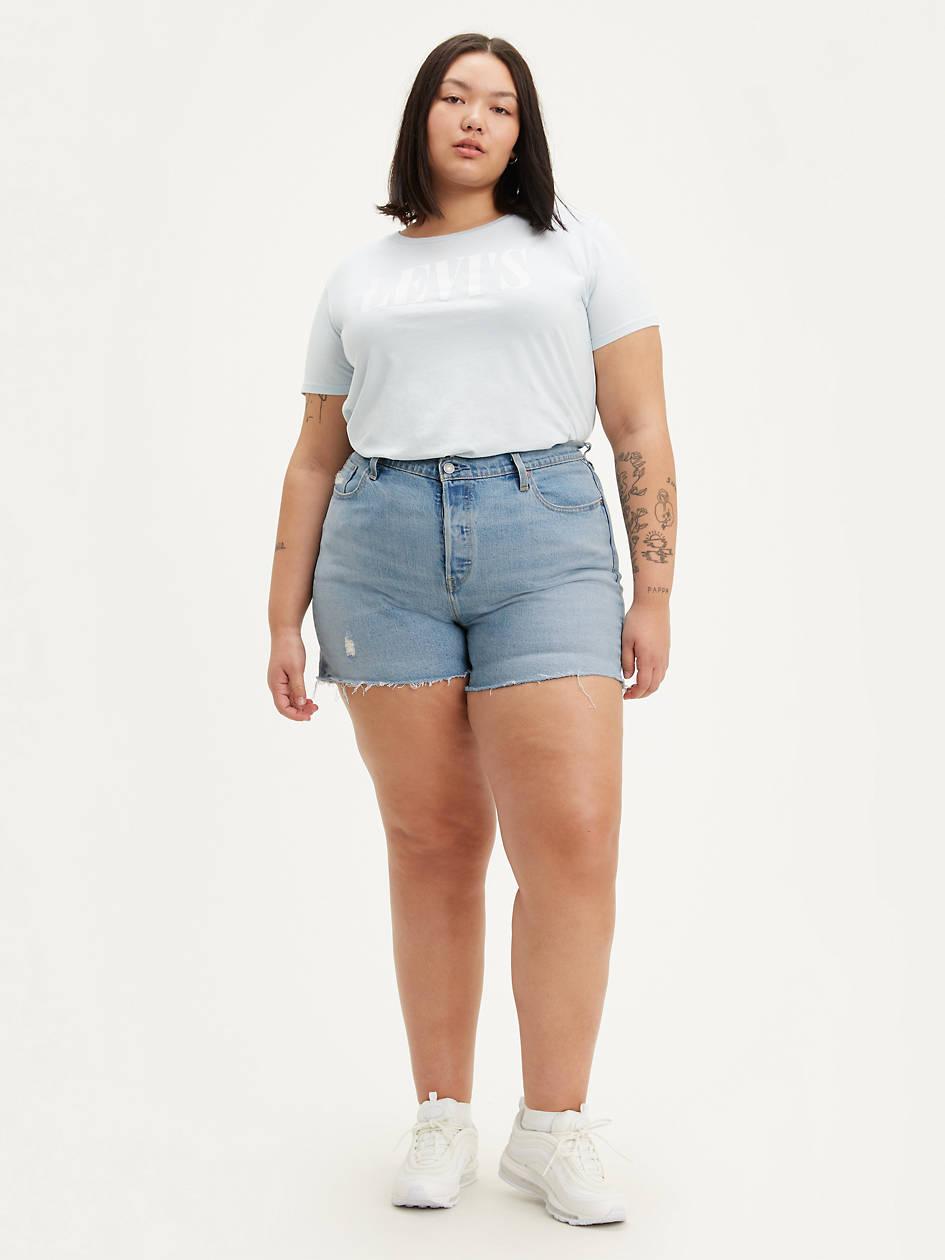 501® Womens Shorts (plus Size) - Light Wash | Levi's® US