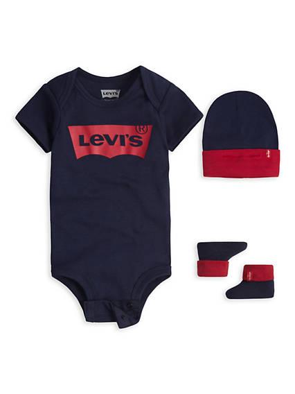 Baby Batwing Onesie Hat Bootie Combo Set