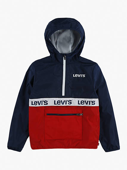 Kids Half Zip Windbreaker