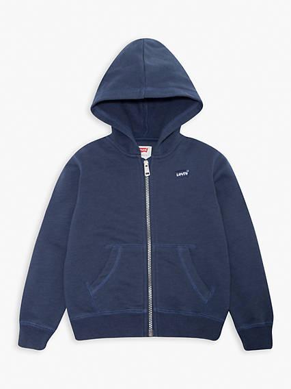 Teenager Washed Zip Up Hoodie