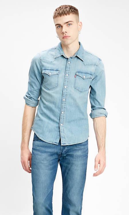 Levi's LS Barstow Western Shirt, Camisa Casual de Manga