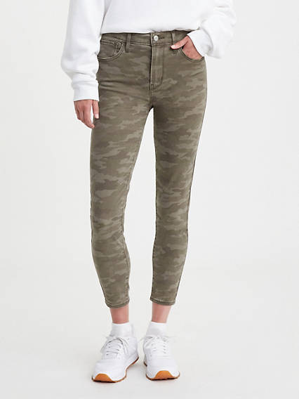 Camo 720 High Rise Super Skinny Crop Women's Jeans