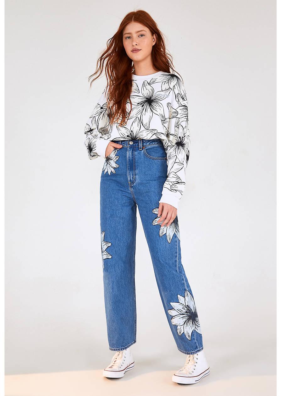 Levi's® X Farm High Loose Women's Jeans - Medium Wash | Levi's® US