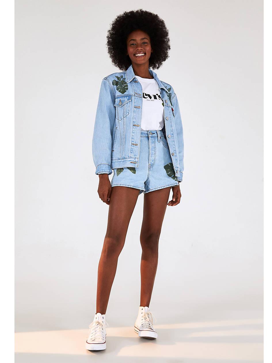 Levi's® X Farm Ribcage Women's Shorts - Light Wash   Levi's® US
