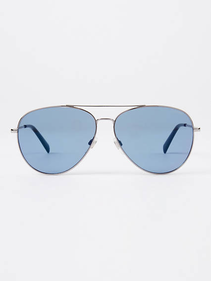 Levi's Blue Pilot Sunglasses