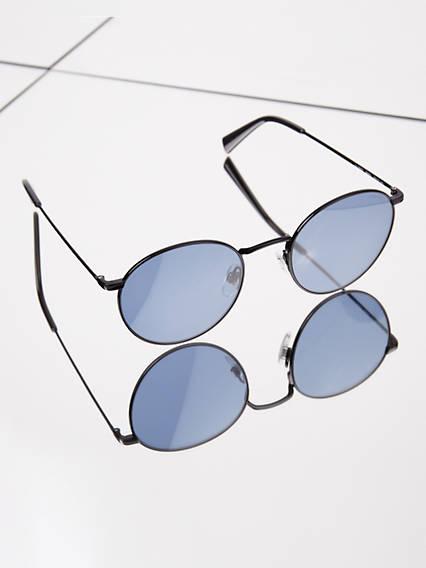 Levi's Blue Round Sunglasses