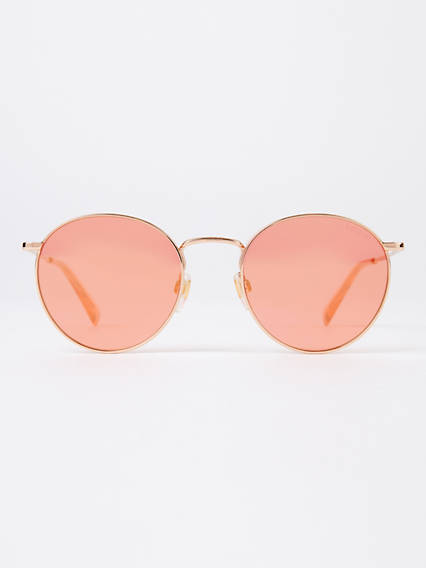 Levi's Orange Round Sunglasses