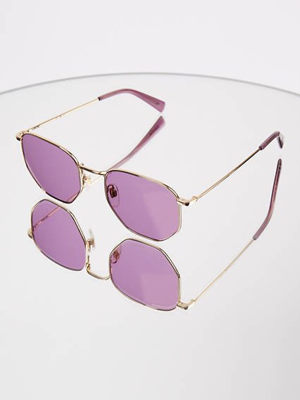 Levi's Pink Rectangle Sunglasses