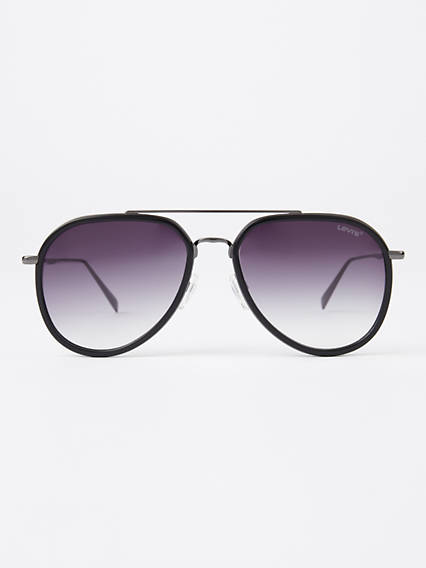 Levi's Grey Pilot Sunglasses