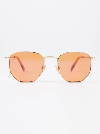Levi's Orange Rectangle Sunglasses