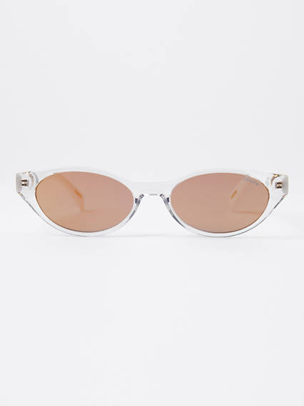 Levi's White Cat Eye Sunglasses