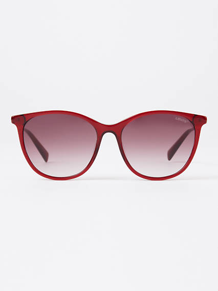 Levi's Red Round Sunglasses