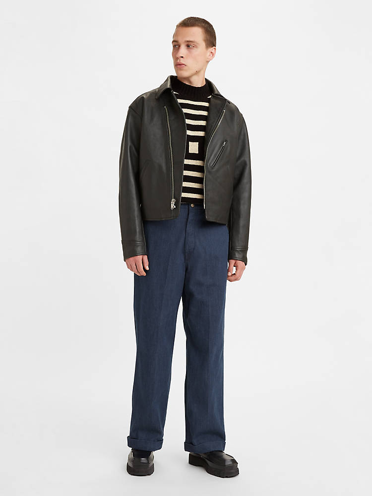 1920s Men's Pants History: Oxford Bags, Plus Four Knickers, Overalls Levis 1920s Balloon Leg Mens Jeans 31 $245.00 AT vintagedancer.com