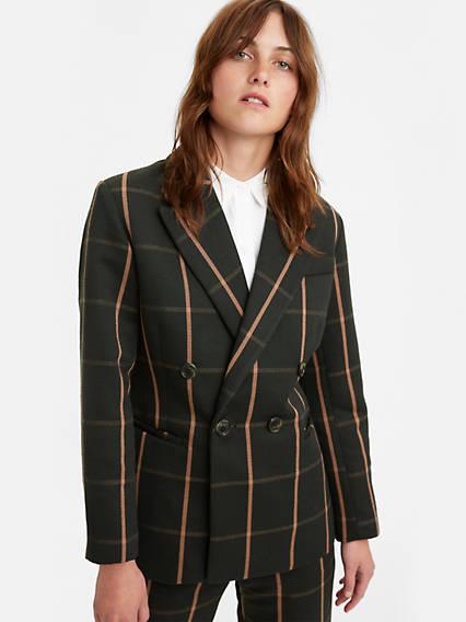 80s Windbreakers, Jackets, Coats | 90s Outerwear Levis Abner Blazer - Womens M $128.00 AT vintagedancer.com