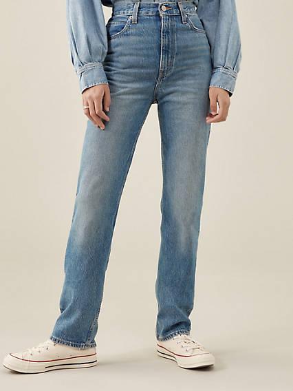 60s Pants, Jeans, Hippie, Flares, Jumpsuits Levis 70s High Rise Slim Straight Womens Jeans 27x31 $108.00 AT vintagedancer.com