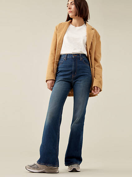 60s Pants, Jeans, Hippie, Flares, Jumpsuits Levis 70s High Rise Flare Womens Jeans 34x32 $108.00 AT vintagedancer.com