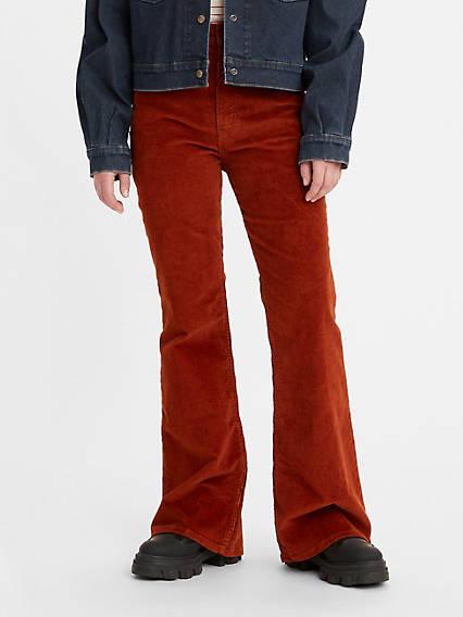 60s Pants, Jeans, Hippie, Flares, Jumpsuits Levis 70s High Rise Flare Womens Jeans 25x30 $89.50 AT vintagedancer.com