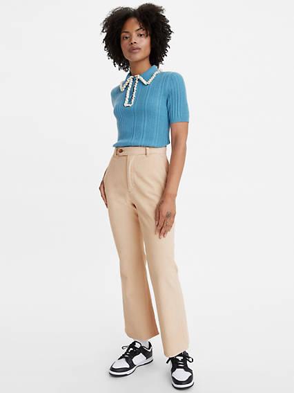 60s Pants, Jeans, Hippie, Flares, Jumpsuits Levis Math Club Flare Womens Pants 25x27 $89.50 AT vintagedancer.com