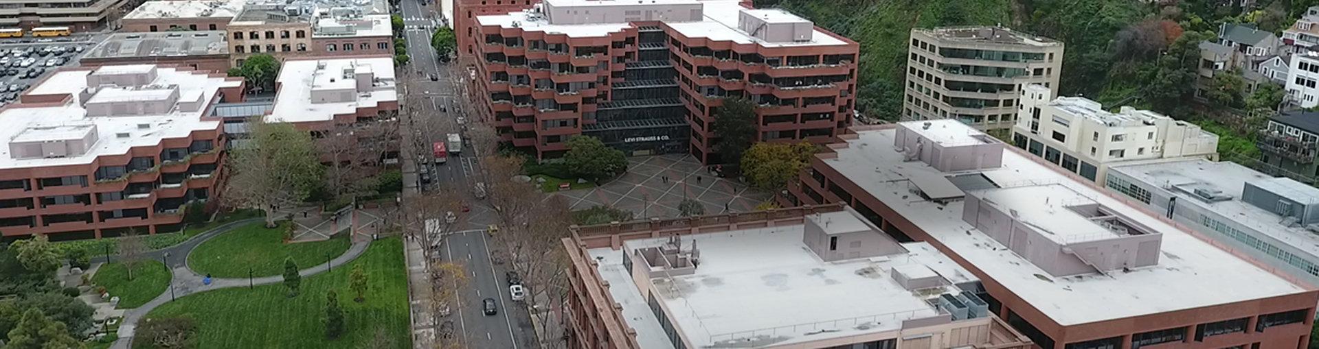 Bird's eye view Levi's San Francisco Office