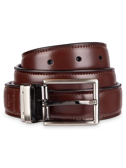 Leather Reversible Dress Belt