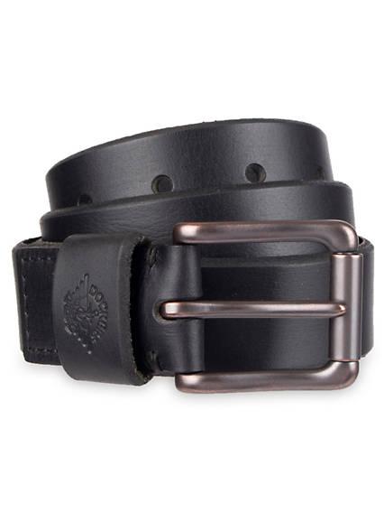 Men's Roller Buckle Leather Belt