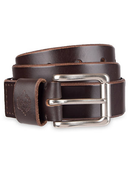Men's Roller Buckle Leather Belt