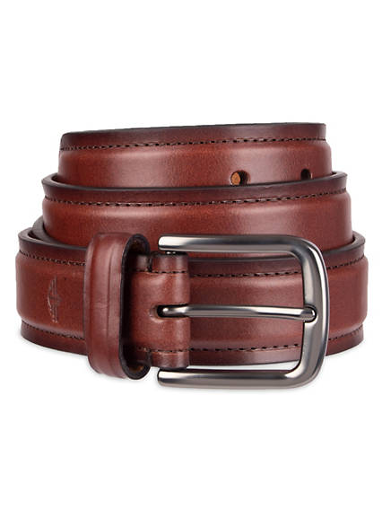 Drop Edge Leather Belt