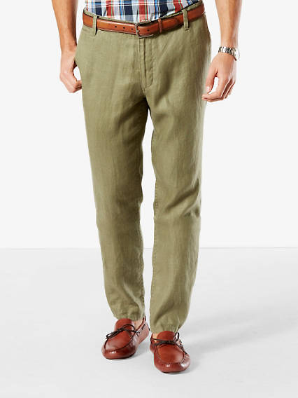 The Linen Marina Khaki, Slim Fit