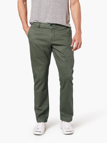 Washed Khaki Pants, Athletic Fit