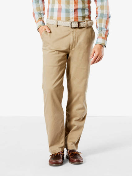 Washed Khaki Pants, Classic Fit