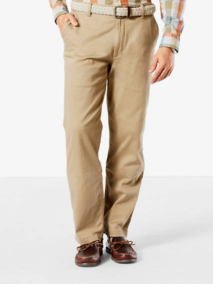 Washed Khaki, Classic Fit - Stretch Twill
