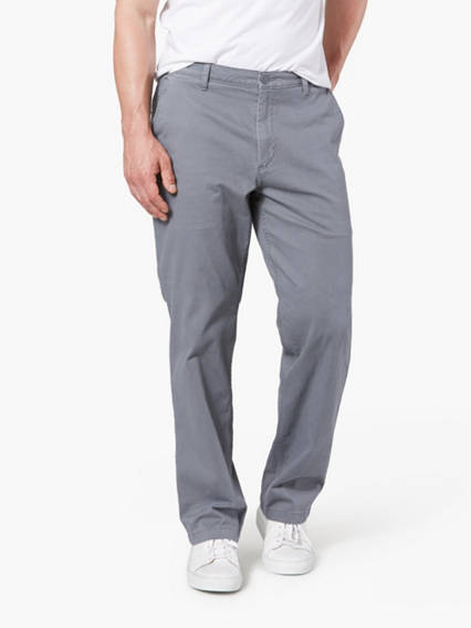 Washed Khaki Pants, Classic Fit
