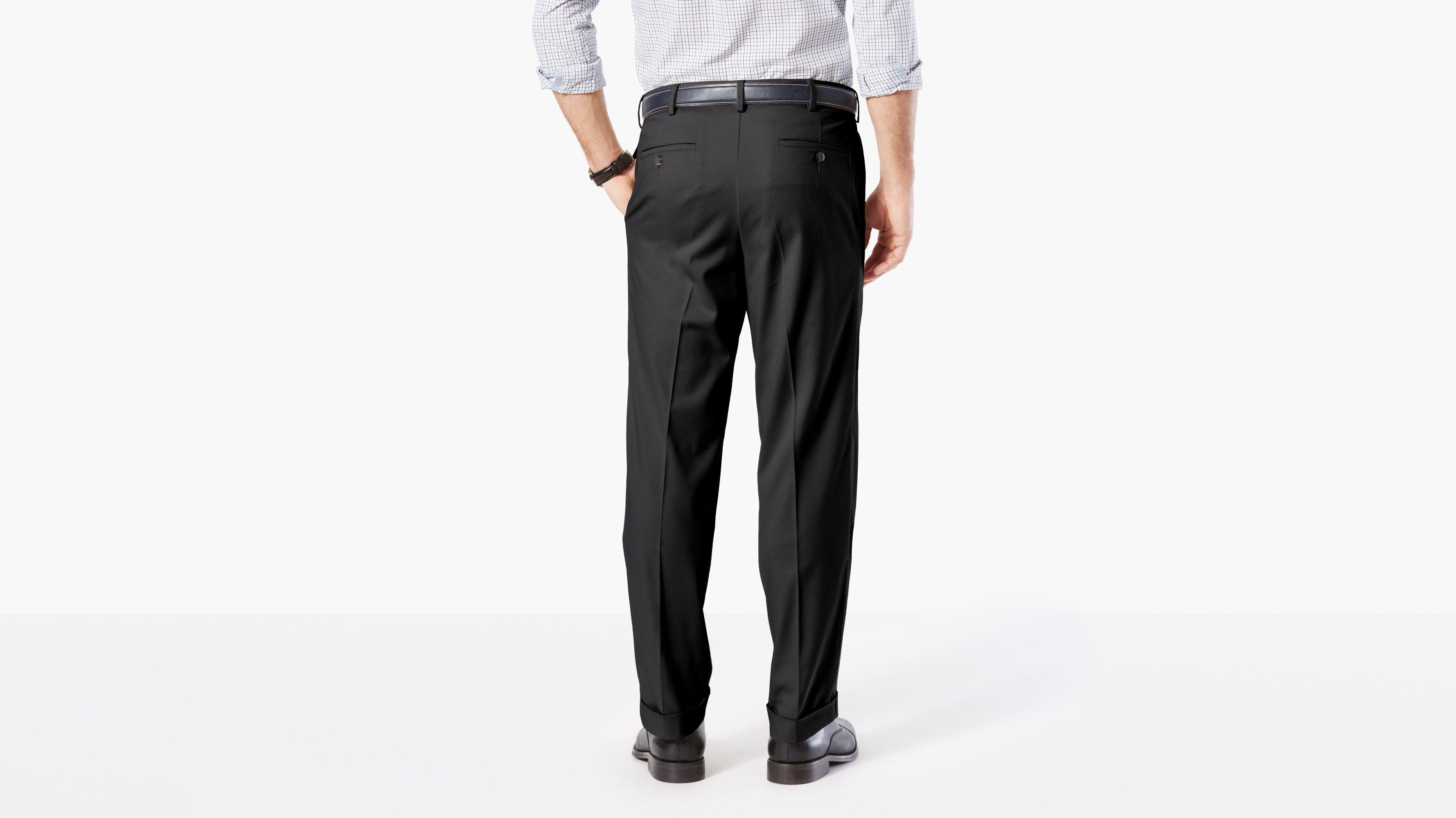 Mens pants Pleated Black Dress cuffed 29 30 32 33 34 36 X 30 32 34 NEW RETRO USA