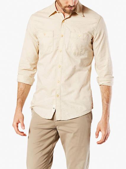 Chambray Shirt, Slim Fit