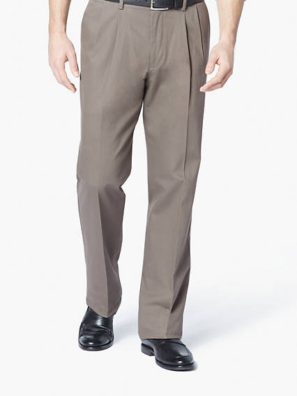 Signature Stretch Khaki Pleat, Classic Fit